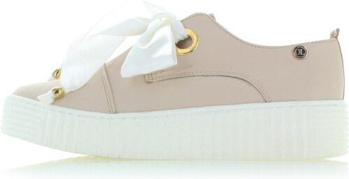 Olivia Shoes Béžové kožené tenisky na platformě Jody - Glami.cz bee034338f