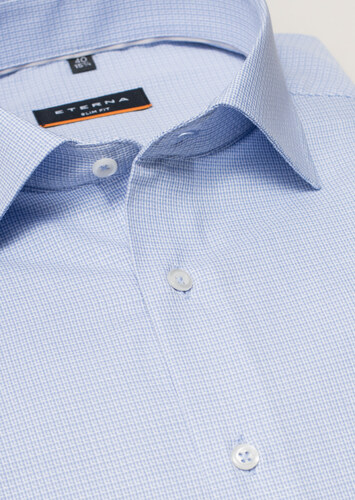 d6e254160cd Nežehlivá košile Eterna Slim Fit Modrá - Glami.cz