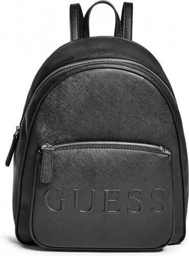 83b0c362382 GUESS Dámský batoh Chandler Saffiano Logo Backpack - black - Glami.cz