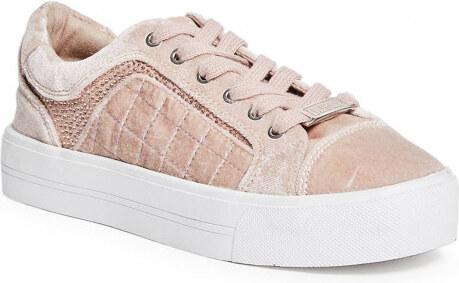 a4fc6e9e20a GUESS Dámské tenisky Darren Velvet Low - light pink - Glami.cz