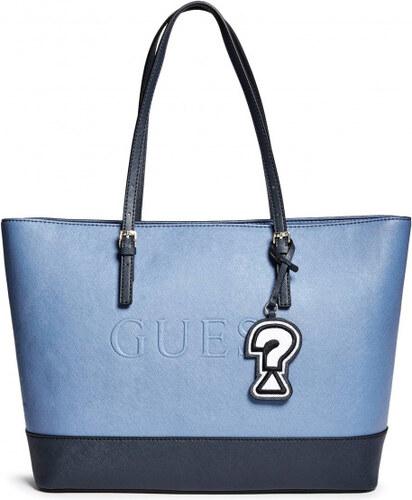 GUESS Dámská kabelka Chandler Color-Block Logo Tote - blue - Glami.cz fb45fc15629
