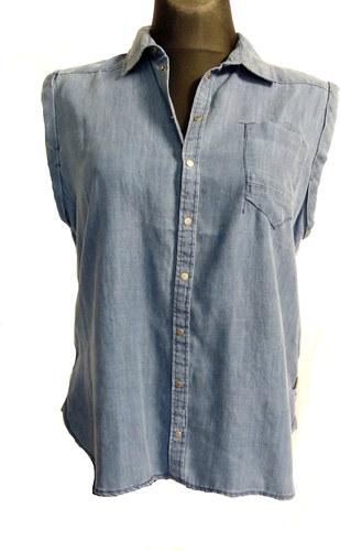 Dámská riflová košile bez rukávu g-star - Glami.cz 9e049bd605