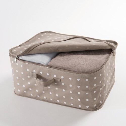 a0b57fe0ef Malý béžový box na uložení oblečení Compactor Dots - Glami.cz