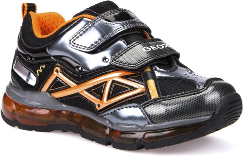 Geox Chlapčenské svietiace tenisky Android - čierno-oranžové - Glami.sk 323060091c9