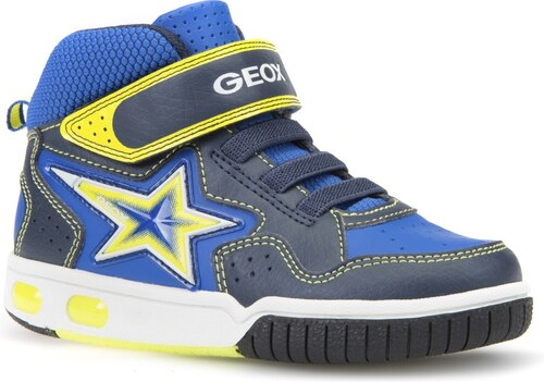 d65e6bfa1cd Geox Chlapčenské svietiace členkové tenisky Gregg - modré - Glami.sk