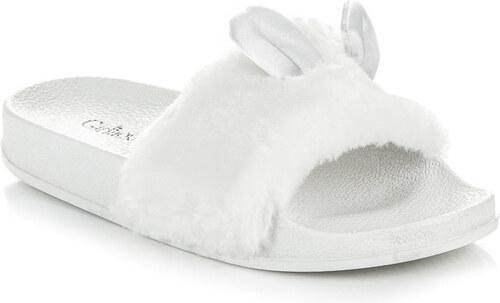 GIRLHOOD Najštýlovejšie biele šľapky s uškami - Glami.sk e79d43c10d1
