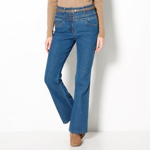 Blancheporte Bootcut džíny s vysokým pasem modrá - Glami.cz 9bc7d3ab09