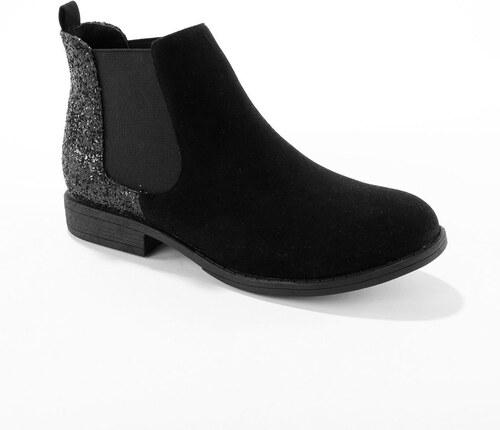 Blancheporte Členkové čižmy s gumou čierna - Glami.sk b9faa1b8521