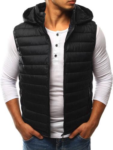 Pánska čierna prešívaná vesta s kapucňou (tx1808) - Glami.sk 8358bf4020d