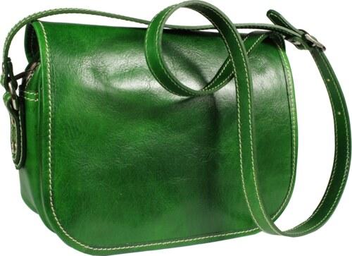 NovaKabelka.cz Zelená kožená kabelka z Itálie Floriano Verde - Glami.cz b8b02ded9e2