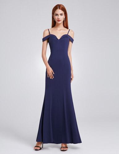 Ever Pretty šaty modré dlouhé spadlá ramínka 7017 - Glami.cz c42fb47036