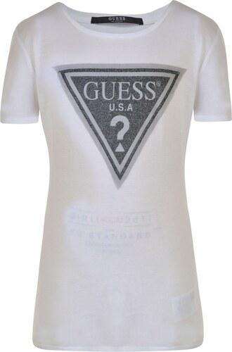 Triko Guess Logo T Shirt True White - Glami.sk e790b5cac2b