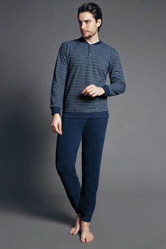 Enrico Coveri Fabias Blue olasz férfi pizsama kék - Glami.hu 9ac2f41020