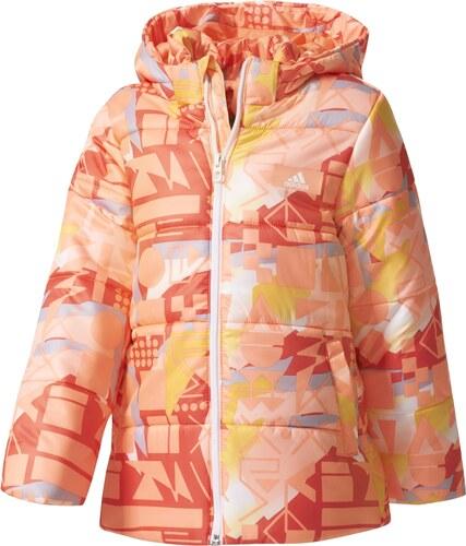 adidas Dievčenské prešívaná bunda Sunglo - oranžová - Glami.sk 040ec07fa65