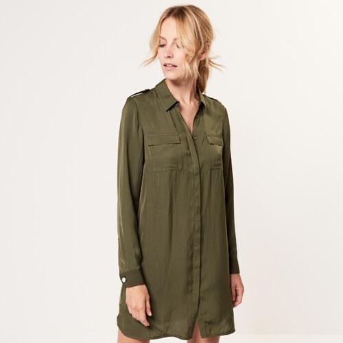 Mohito - Stredne dlhé košeľové šaty - Zelená - Glami.sk 39e174fe7ce