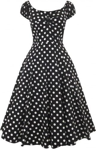 11465f736d8 COLLECTIF Dámské retro šaty Dolores černé s puntíky - Glami.cz