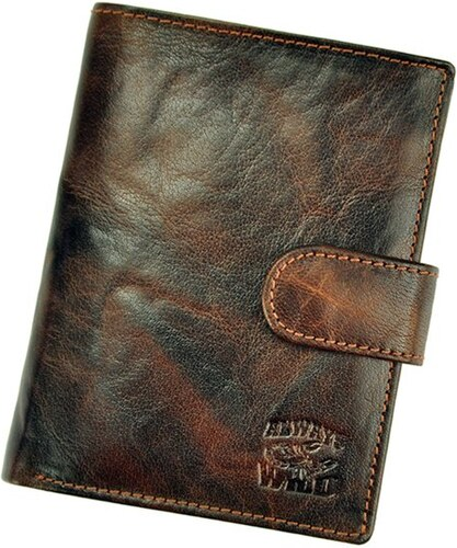 Hnědá pánská kožená peněženka Always Wild N4L-BC se štírem na upínku ... 12ecd6e1a3