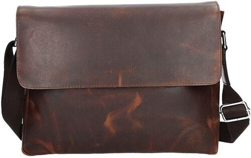Pánská kožená taška přes rameno Bugatti Olav - hnědá - Glami.cz c86ea8e1b67