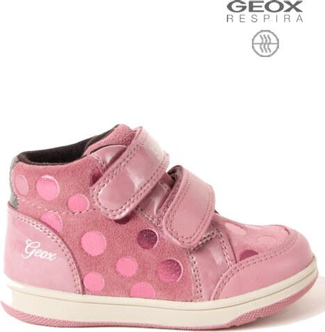 0843c84e596 GEOX Dětské podzimní jarní boty GEOX B741HF Pink - Glami.cz