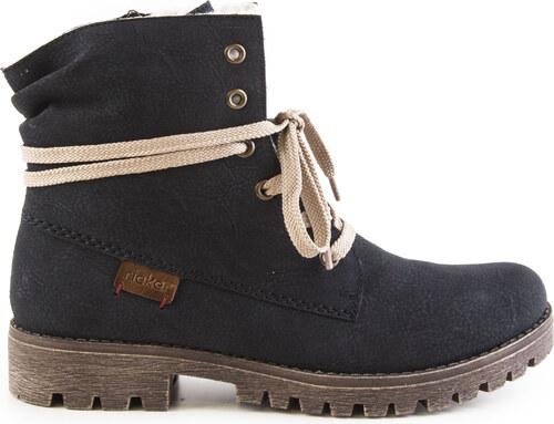 Rieker - Dámské zateplené kotníkové boty na zip a šněrování šíře G 78550-14    06561073e15
