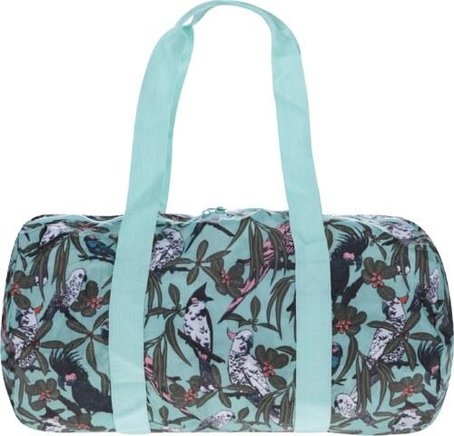 Mentolová skládací cestovní taška s potiskem Herschel Heritage Duffle 22 l 100f9162d5