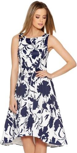 f767c0694b90 QUIZ Biele šaty s tmavo modrým kvetinovým vzorom - Glami.sk
