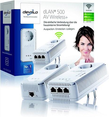 devolo powerline wlan dlan 500 av wireless 500mbit 3xlan netzwerk. Black Bedroom Furniture Sets. Home Design Ideas