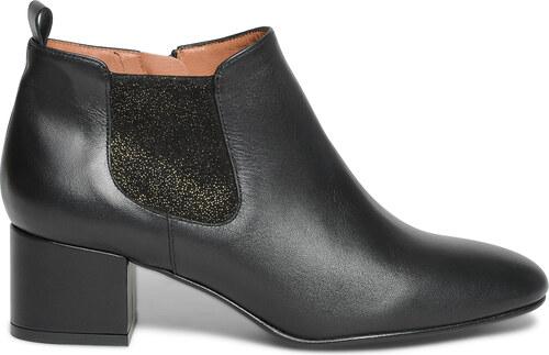 Eram Boots cuir noir à paillettes or - Glami.fr f2540ece2c57