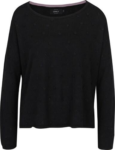 7b7f68a78a7c Čierny voľný sveter s plastickými detailmi ONLY Liv - Glami.sk
