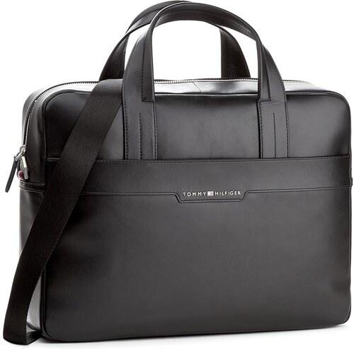 Brašna na notebook TOMMY HILFIGER - Smooth Leather Computer Bag AM0AM02635  002 2e4d92f05e