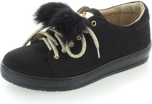 b7650dec36b3 Olivia Shoes Čierne kožené tenisky Silvia - Glami.sk