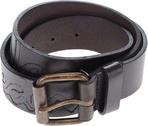 Tmavě hnědý pánský kožený pásek s nápisem Pepe Jeans Hammond - Glami.cz f040d58348