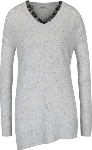 Světle šedý žíhaný svetr Haily´s Lacy - Glami.cz 1bf7e47fcb