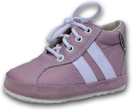 db6209f6074 dětské boty PEGRES Celokožené capáčky PEGRES - model 1090 - růžové ...