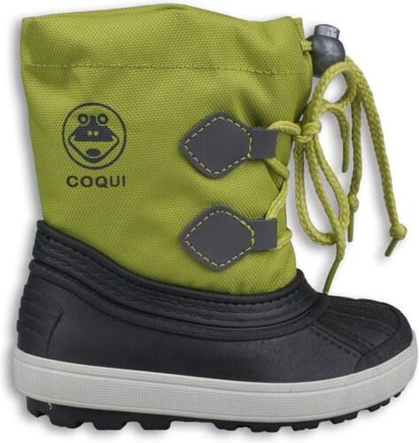 COQUI DĚTSKÉ ZIMNÍ BOTY COQUI - zelené 2099897e7a