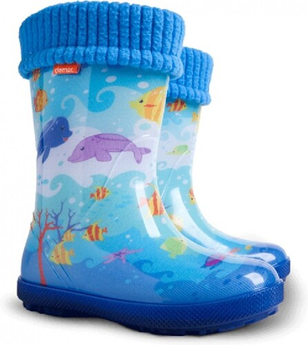 5517a24fcc5 Dětské boty DEMAR Zateplené gumovky