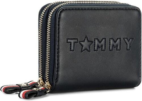 Kis női pénztárca TOMMY HILFIGER - Logo Story Med Dbl Za Wallet AW0AW04284  413 0af4304922