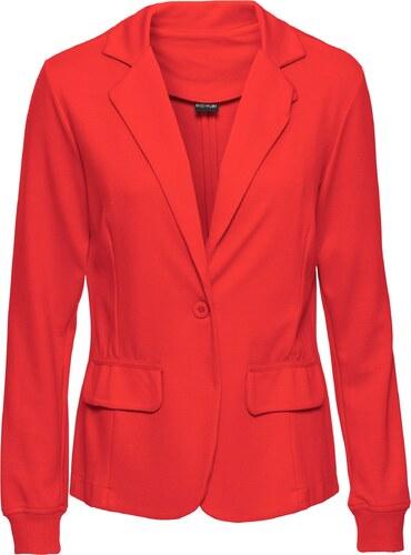 bodyflirt bonprix blazer rouge manches longues pour femme. Black Bedroom Furniture Sets. Home Design Ideas