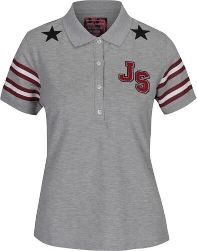 3dc3ebc1581d Sivé dámske melírované polo tričko s potlačou Jimmy Sanders - Glami.sk