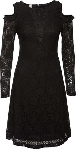 BODYFLIRT boutique Bonprix - robe d été Robe en dentelle noir manches 7 8  pour femme 6cf07c9b34ce