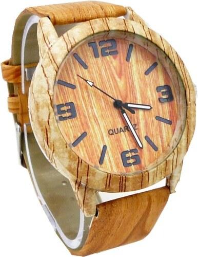 Dámské dřevěné hodinky G.D Wood hnědé 471ZD - Glami.cz aa6cb8eddb