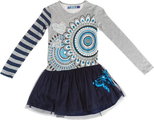 Desigual Rouge Šaty dětské Modrá - Glami.cz 230c88971b3