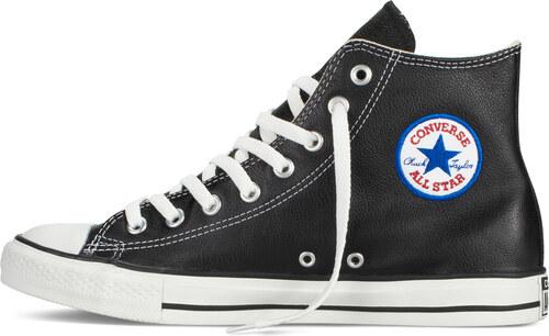 Converse černé kožené unisex tenisky Chuck Taylor All Star Hi Black - 45 62f35e21de