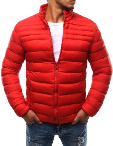 Dstreet Pánska červená prešívaná bunda bez kapucne - Glami.sk 6344c29db05