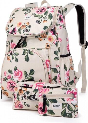 SET  Dívčí béžový školní batoh Lola 1743 - Glami.cz 95f4a56887