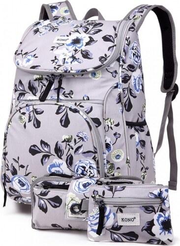 SET  Dívčí šedý školní batoh Lola 1743 - Glami.cz 2b46282669