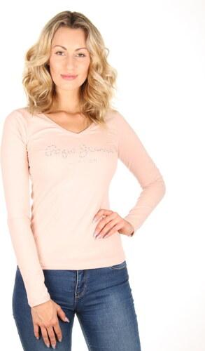 040accb677e Pepe Jeans dámské pudrové tričko Mar - Glami.cz