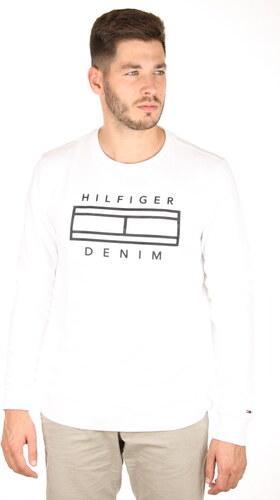 e857527a352 Tommy Hilfiger pánská bílá mikina Outline - Glami.cz