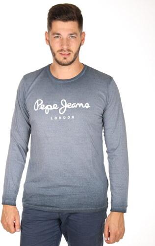 Pepe Jeans pánské modré tričko West - Glami.cz 874ed00f3e
