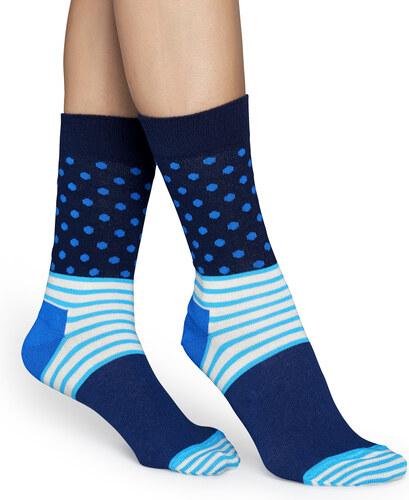 1603bae1874 Modré ponožky Happy Socks se vzorem Stripe Dot - M-L (41-46) - vel ...